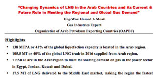 Gas demand in middle east