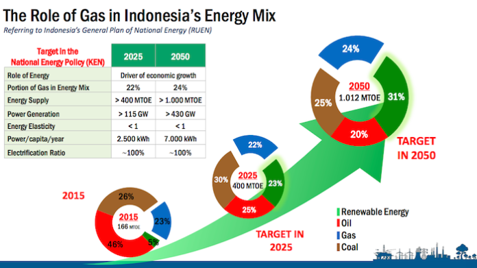 role of natural gas in Indonesia