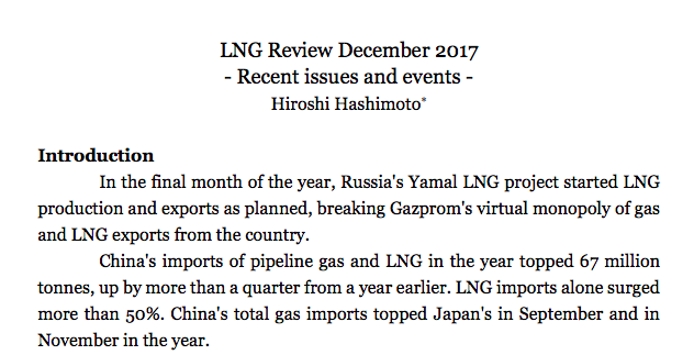 LNG market review