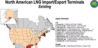 existing LNG terminals in the US